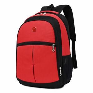 New Mens School Backpack Satchel Laptop Casual Notebook Zipper Travel Bag