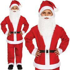 Childrens Fancy Dress Father Christmas Santa Claus Costume Kids Santa Outfit New