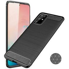 Schutzhülle Samsung Galaxy S20 Serie Carbon Hülle Handy Hybrid Case TPU Cover