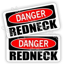 Hard Hat Stickers | DANGER REDNECK | Funny Helmet Decals Labels Rebel Southern