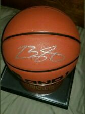 LEBRON JAMES SIGNED BASKETBALL W/GLASS/MIRROR DISPLAY CASE
