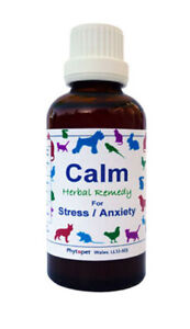Phytopet Herbal Remedies Calm 100ml Dog Cat stress anxiety