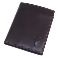 MEN'S LEATHER WALLET CREDIT CARD HOLDER COIN ZIPPER POCKET VINTAGE PURSE