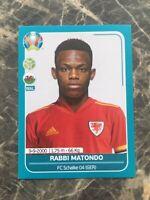 2019/20 PANINI EURO 2020 RABBI MATONDO ROOKIE STICKER SCHALKE WALES