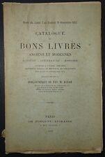 Catalogue de bons livres de la bibliothéque de M. HULOT / 1892