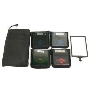 Cavision 4x4 Glass Filter 4 Set FTG4X4 GG/PL/SB/ST6P w/ Case - As Is - TGHH