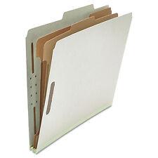 UNIVERSAL Pressboard Classification Folder Letter Six-Section Gray 10/Box 10272