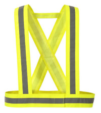 "Hi-Vis 1"" Reflective Strap Suspender Hook & Loop Closer Adjustable Sizing HV55"
