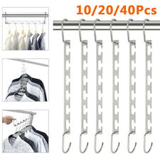 10/20/40Pcs Closet Clothing Magic Hangers Organizer Metal Hooks Rack Space Saver