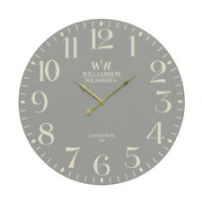 Wall Clock Classical Grey MDF Round Arabic Numerals Home Décor