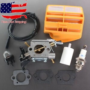 Carburetor For Husqvarna 445 & 450 Chainsaw Zama C1M-EL37B 506450401 Air Filter