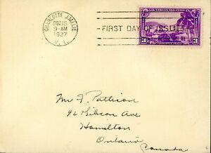 US FDC#802 - Charlotte Amalie (1937) 3¢
