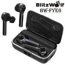 BlitzWolf TWS Waterproof Wireless Bluetooth V5 Touch Earphone Earbud + Charger