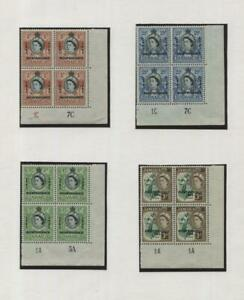 JAMAICA: QEII Independence Blocks - Ex-Old Time Collection 3 Album Pages (43047)