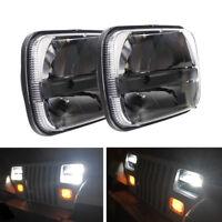 "Duad 5 X 7"" LED Rectangular Headlights for Ford Jeep Cherokee 1985-2001 XJ YJ"