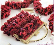 ~ Knit & Crochet Patterns For Pretty Frilled Scarf & Bag & Knitted Socks  ~