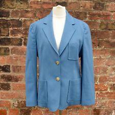 Céline Blazer   Celine Jacket   Blue   Cashmere, Silk   Size 44, UK 12