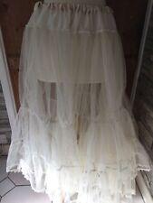 Vintage Old Half Petticoat Net Tulle Dance Shabby Chic Flouncy