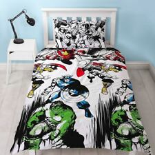 OFFICIAL MARVEL COMICS CROP SINGLE DUVET COVER SET CHILDRENS REVERSIBLE