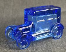 Ford Model T Circa 1925 based figurine in Blue Sapphire Glass