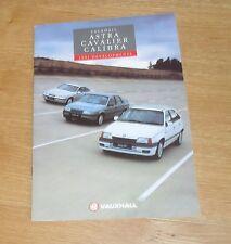 Vauxhall 1991 Developments Brochure - Calibra 16v Cavalier GSI SRI Astra GTE SXI
