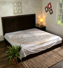 Mandala Golden ombre Multi Print Tapestry Wall Hanging BedSheet queen Bed Cover