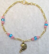 Gold Koi Fish Anklet, Beach Anklet, Sea Charm Anklet, Seashell Anklet, Tropical