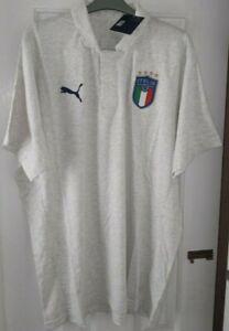 Italy Puma White Heather Casual Polo Shirt.  Size XXL.  BNWT