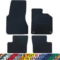 Smart For Four 2015+ Fully Tailored 4 Piece Black Car Mat Set with 2 Clips