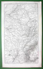 1859 ANTIQUE MAP - East of France & Piedmont in Italy