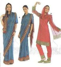 Ethnic India Costume Sewing Pattern 7701 Indian Sari Tunic Top Pants 8 -18 Burda