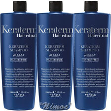 Keraterm Shampoo 3 x 1000ml Fanola ®Anti-frizz Disciplining Straightened Treated