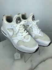 Nike Air Max Prime Low White Sneaker, 876068-100  Men's Size 9.5 #254