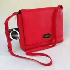 NEW Oroton Mystical Satchel Crossbody Bag  Messenger Pebble Leather Red