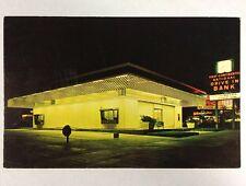 1st Drive In Bank First Continental Lincoln, Nebraska Chrome NE Postcard Unused