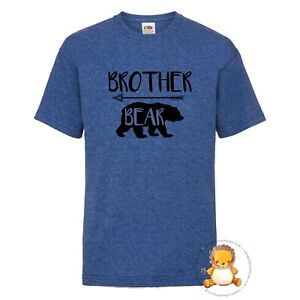 Kids Brother Bear T-shirt - gift, red, family, personalised, present, trend