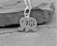 Halskette Kette Anhänger 925 Sterling Silber Elefant Geschenk Glücksbringer NEU