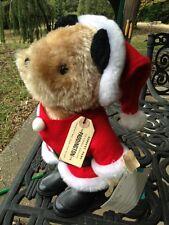 "Santa Paddington Bear Vintage Eden Toys Large 14"" W Tags 1975 Darling Toy Gift"