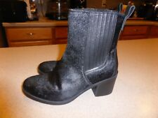 NEW UGG Camden Exotic Black Calf Hair Ankle Boots Booties $248 Shoes Size 7.5