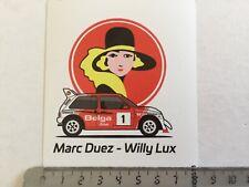 """Sticker / Aufkleber, MG Metro 6R4 """"Belga"""" Marc Duez/Willy Lux"""