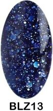 BLUESKY GLITTER BLZ13 MIDNIGHT SKY UV LED SOAK OFF GEL NAIL POLISH 10ML FREEPOST