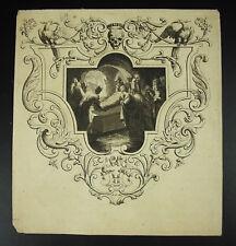Antique print XVIII th Génese XXIII arrivée du corps du Christ au Saint-Sépulcre