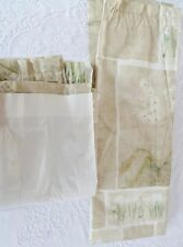 "Custom Made Green Floral Lined Curtain 40"" x 57"""