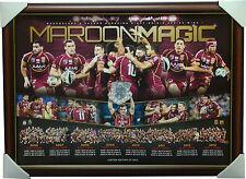 Queensland State of Origin 2013 Maroon Magic Limited Edition Print Framed NRL