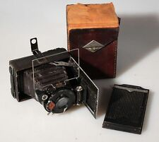 AGFA STANDARD FOLDING CAMERA W/CASE AND FILM BACK
