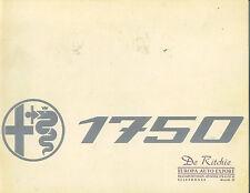 Alfa Romeo  Catalog 1750  Saloon   Circa 1968