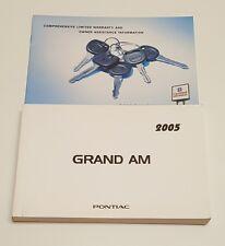 2005 PONTIAC GRAND AM OWNERS MANUAL USER GUIDE OPERATORS GT1 SE V6 3.4L