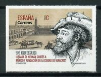 Spain 2019 MNH Hernan Cortes in Mexico & Founding Veracruz 1v S/A Set Stamps