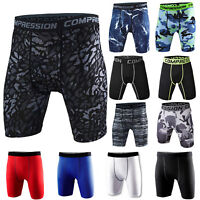 Men Compression Workout Shorts Gym Fitness Trunks Stretchy Camo Sports Underwear