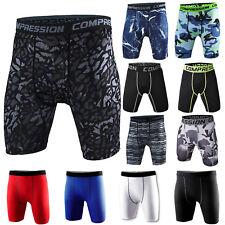 Men Compression Shorts Pants Underwear Sports Base Layer Workout Gym Leggings
